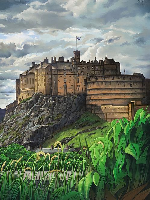 Print, 'Edinburgh Castle'