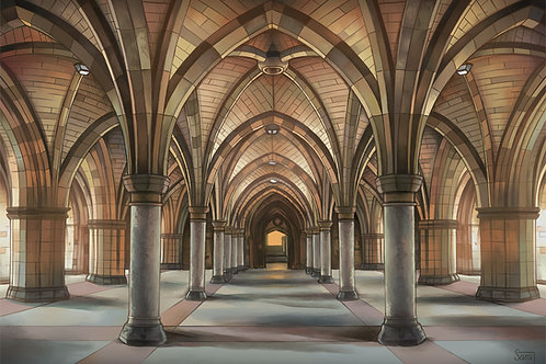 Print, 'University of Glasgow Cloisters'