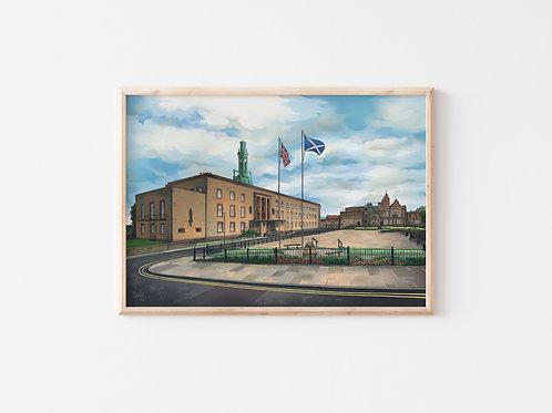Print, 'Kirkcaldy Town House'