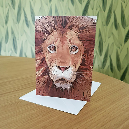 Greeting Card, 'Lion'