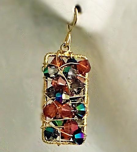 Swarovski Rectangle earrings
