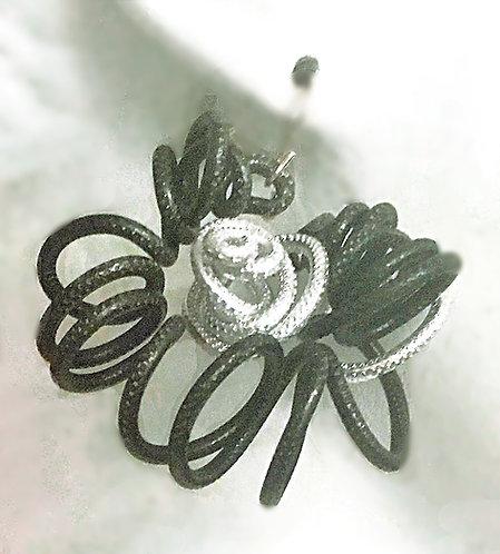 Swirly Flower earrings