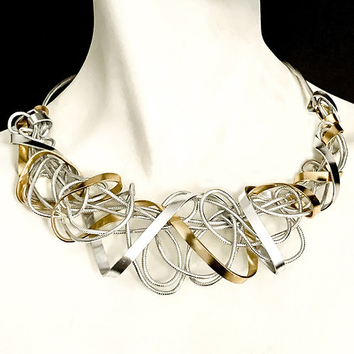 Swirly Wrap around Aluminum Choker