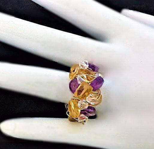 Multi Stone Band Ring