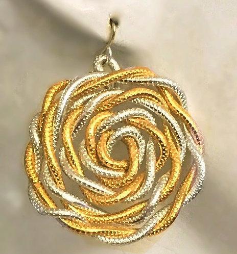 Small twisted hoop earrings