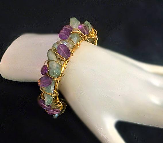 Multiple Stone Cuff Bracelet