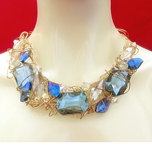 Dramatic Crystal Choker Necklace