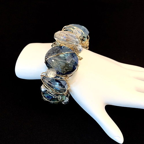 Dramatic Crystal Cuff Bracelet