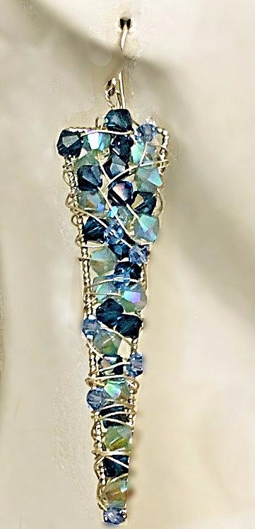 Swarovski Long Triangle earrings