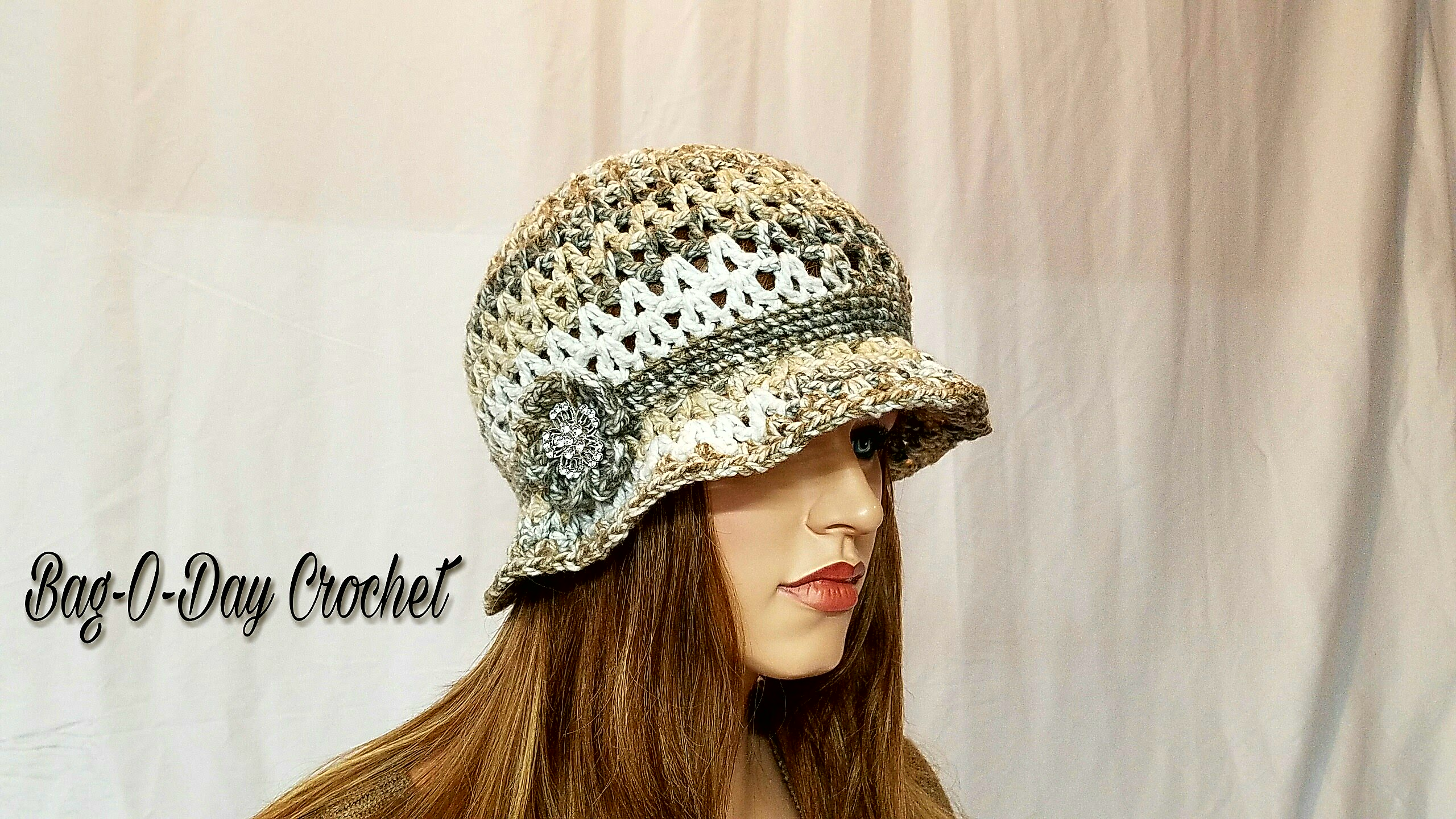 Crochet Hat Irish Rose Cloche Free Crochet Pattern Bagoday