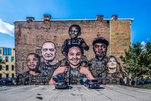 Faces of Homelessness Mural - Cincinnati, OH