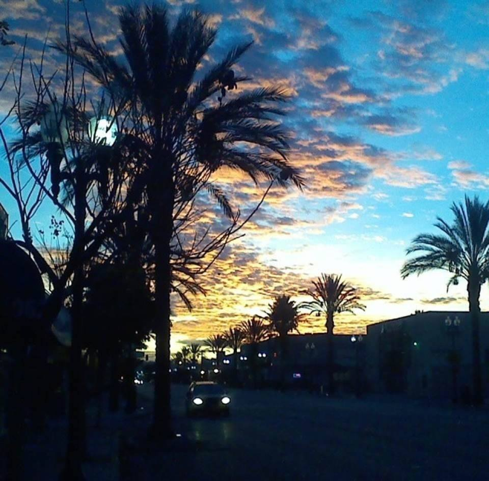 """Sunset on Whittier Blvd."""