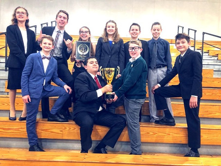A First-Place Win for the Middle School Mock Trial Team