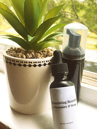Stimulating Beard Oil w/ Beard Wash