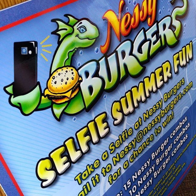 Nessy Burger's summer contest sign