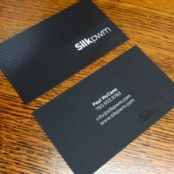 Business cards with spot gloss
