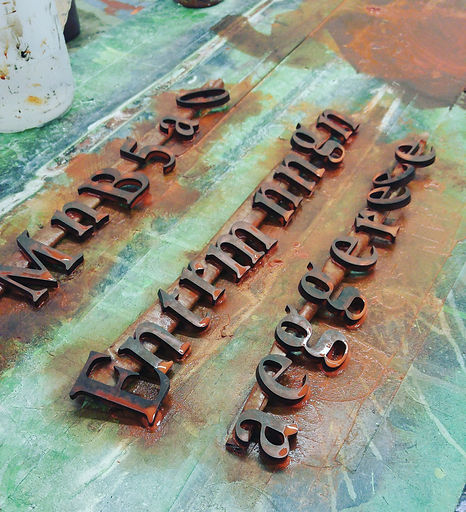 Jim's Sign Shop designs creates adn installs formed letters.  Our three dimensional letters can be plastic, bronze, copper or aluminum.  They can coated to match any rustic, or aged patina you had in mind.