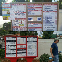 Drive Thru Menu, Before & After