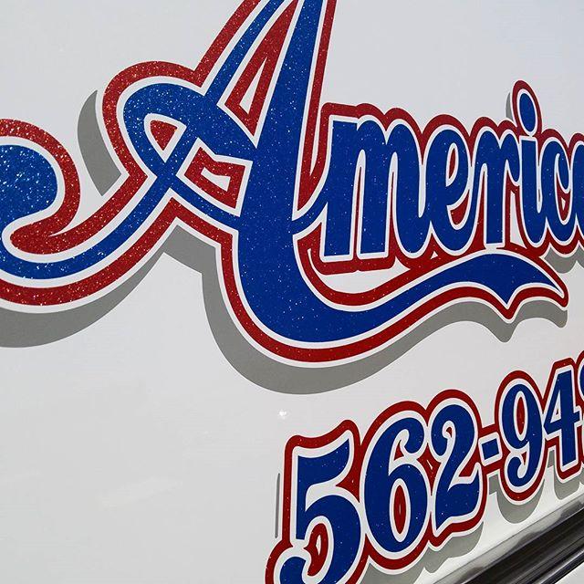 Sparkle vinyl, truck lettering