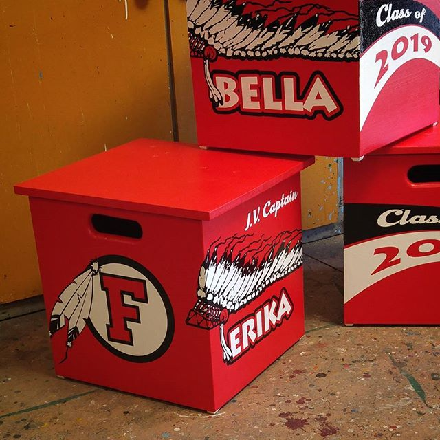 Custom designed cheer boxes
