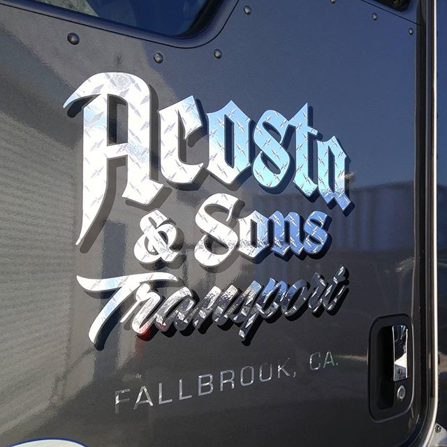 Diamond plate vinyl for Acosta & Sons
