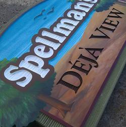 Sandblasted sign