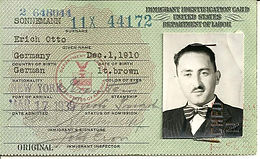 Eric Sonneman immigration ID, St. Patrick's Day arrival in America