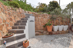 Stairs to back garden