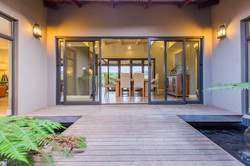 Entrance to House with Koi Ponds