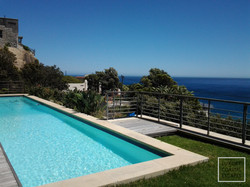 Sparkling pool with view