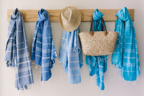 We sell gorgeous white linen, Bedding & Towels for our beautiful beach houses