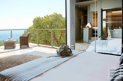 Views from another suite overlooking private deck