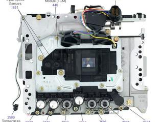 Основные ремонтируемые места АКПП RE5R05A