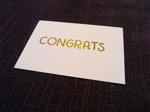 'Hurrah!  Congrats!