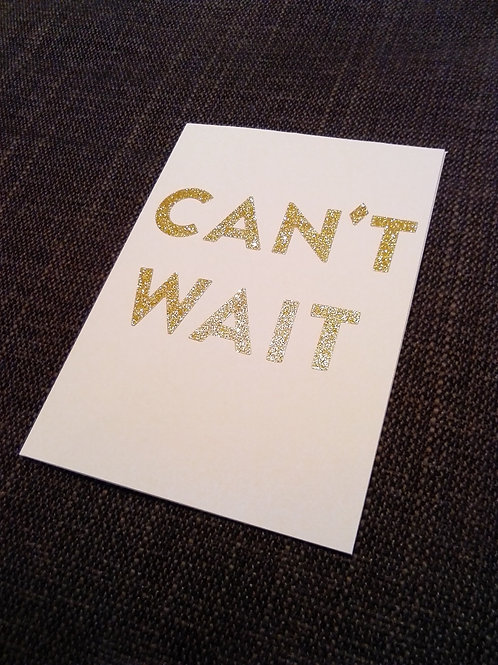 'Just Can't Wait...'