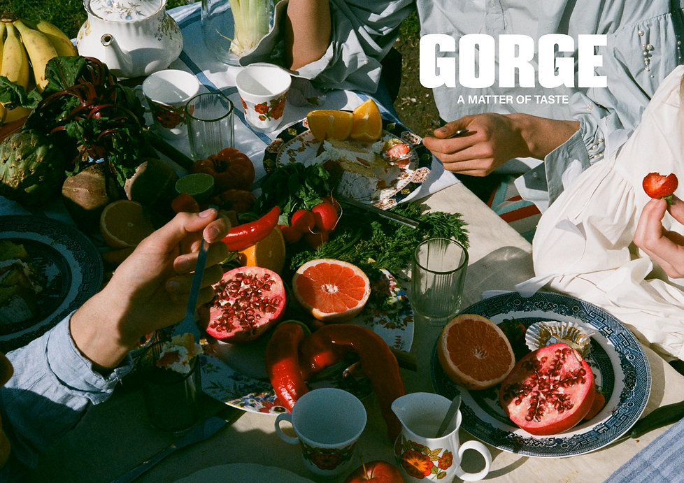 GORGE MAGAZINE (Cover - Double Page, Bac