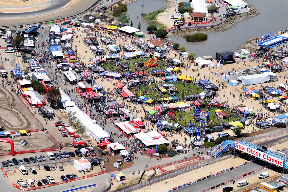 Sea Otter Classic Exhibits Aerial. ProNet Cycling. Clement Cycling, Effetto Mariposa, IceToolz, BibBits, Sprintech, Paincakes, Action Wipes. Booth #545/#546