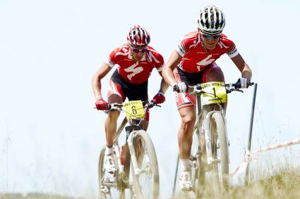 Todd Wells (left) and Burry Stander, 2009 Sea Otter Classic.