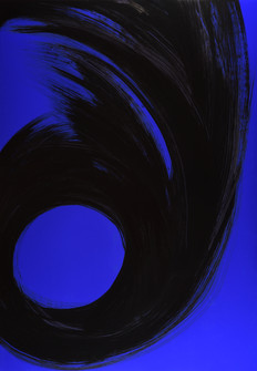 "série ""Arabesques"" Blue cosmic VII"