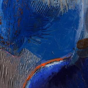 Jeune femme en bleu détail 1
