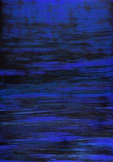 "série ""Mer"" blue cosmic IX"