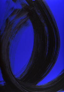 "série ""Arabesques"" Blue cosmic"