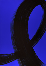 "série ""Arabesques"" Blue cosmic II"