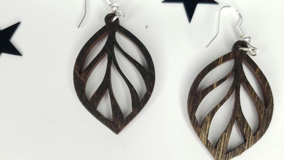 Leaf style earrings