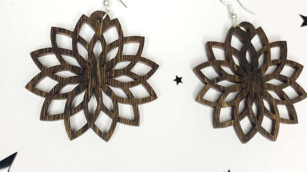 Sunflower style earrings
