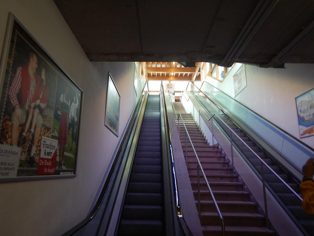 Vigo di Fassa escalators