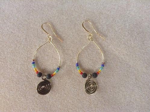 Andean spiral earrings