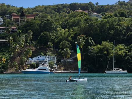 Chilling in St. Lucia - like a Bond movie