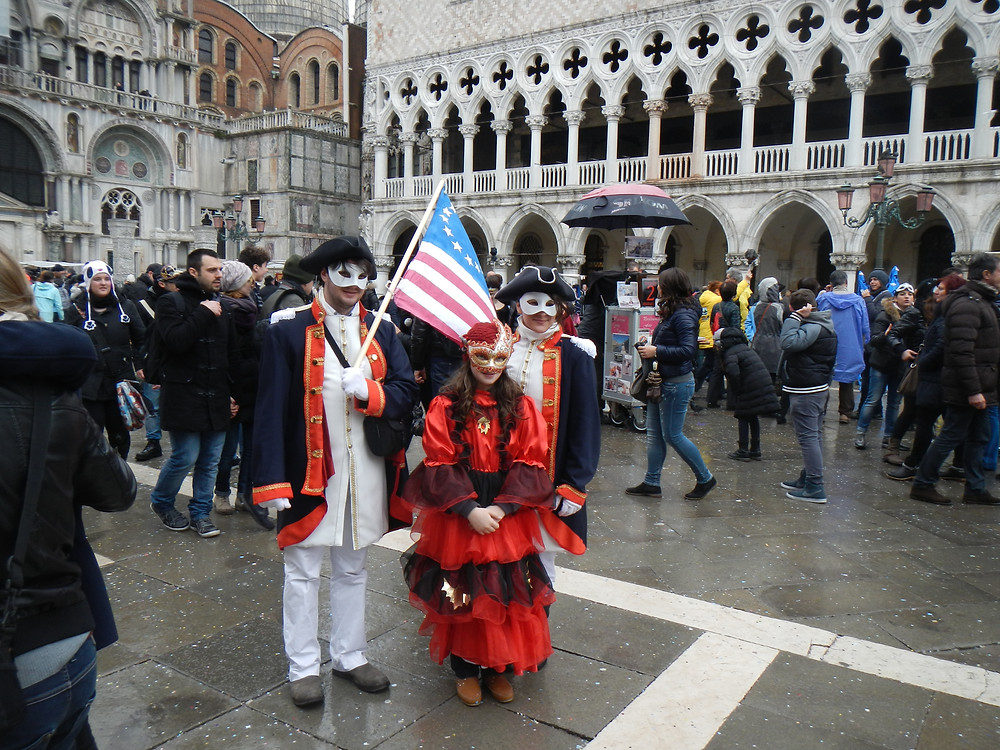Travel off the beaten path Carnival in Venice at St. Mark's Square