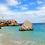 Thumbnail: Sardinian blue sea glass earrings
